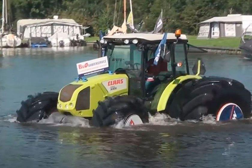 Los neumáticos Mitas caminan sobre el agua